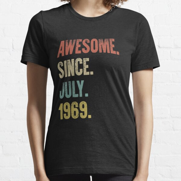 Retro Vintage 50th Birthday Awesome Since July 1969 Essential T-Shirt