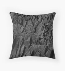 Black Rocks - Nature Elements Throw Pillow