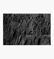 Black Rocks - Nature Elements Photographic Print