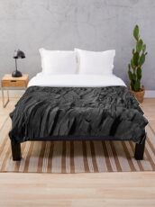 Black Rocks - Nature Elements Throw Blanket