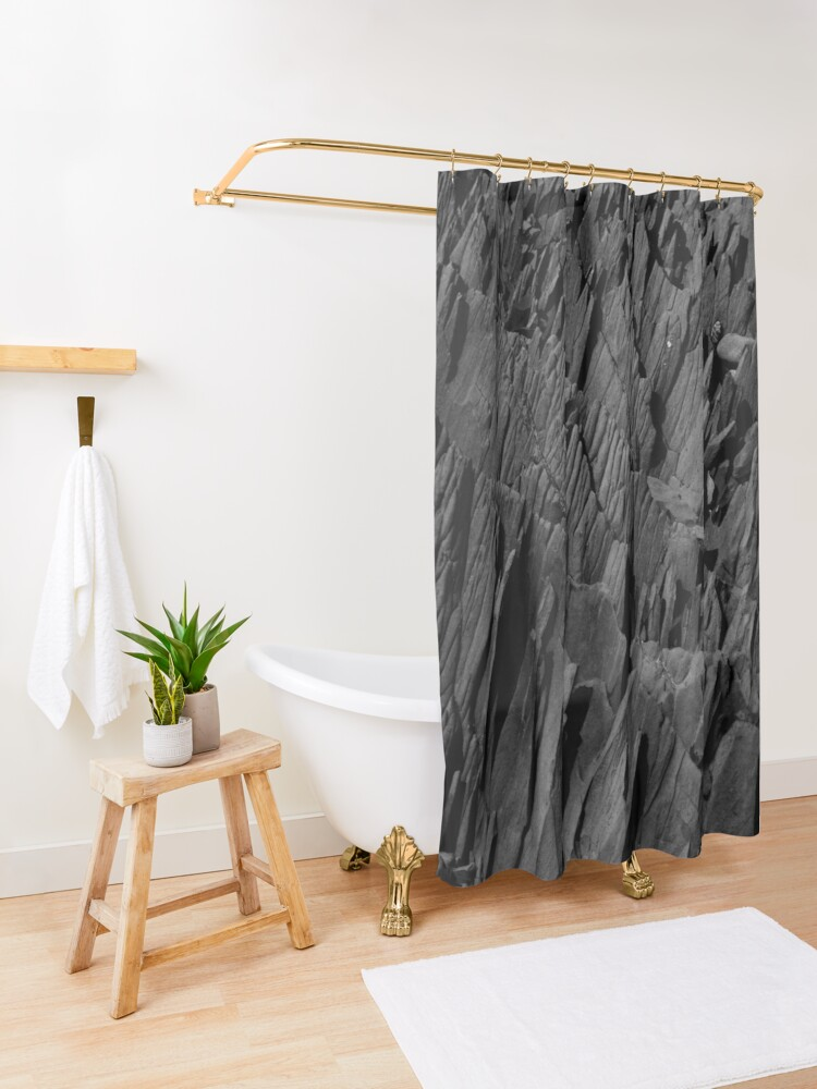 Alternate view of Black Rocks - Nature Elements Shower Curtain