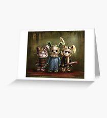 Horror Bunnies Greeting Card
