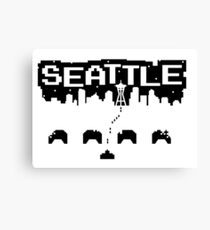 8-BITS OF SEATTLE Canvas Print