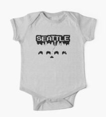 8-BITS OF SEATTLE Short Sleeve Baby One-Piece
