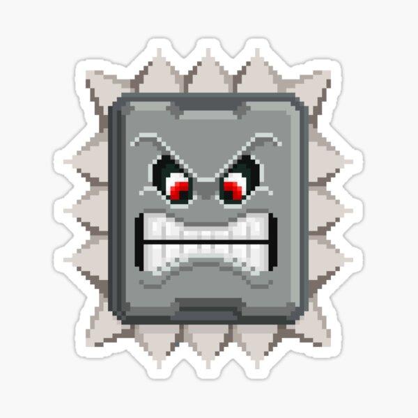 Pointy Pixel Thwomp Sticker