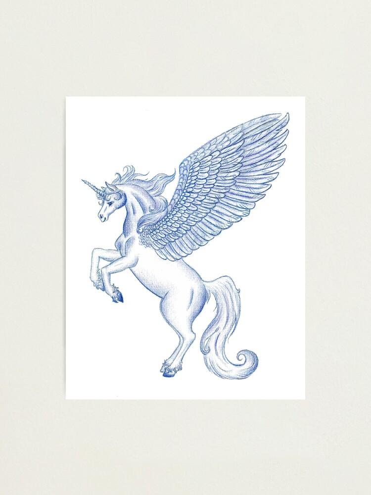 Alternate view of Unicorn Pegasus  Photographic Print