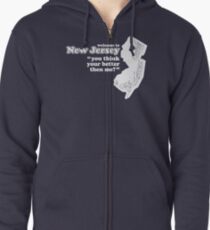 WELCOME TO NEW JERSEY Zipped Hoodie