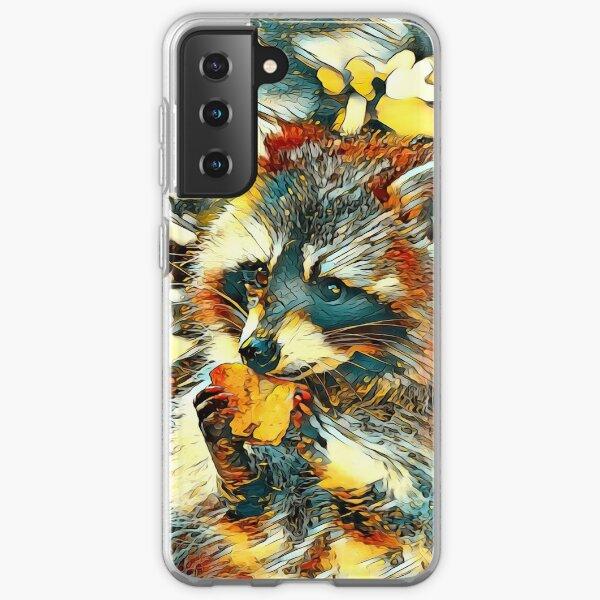AnimalArt_Raccoon_20170601_by_JAMFoto Samsung Galaxy Soft Case