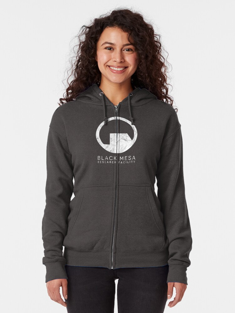 Alternate view of Black Mesa Research Facility Logo inspired by Half Life Zipped Hoodie