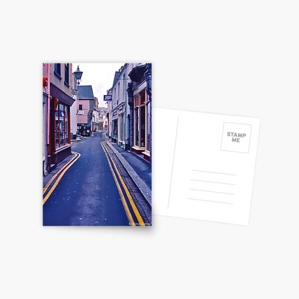 Fowey High Street Postcard