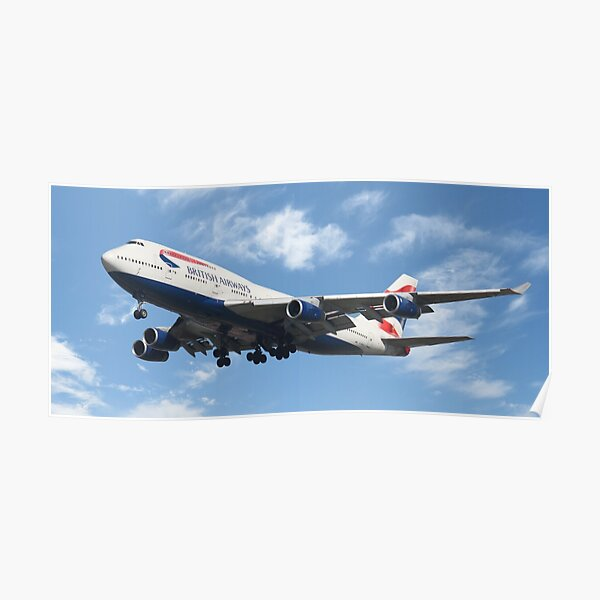British Airways Boeing 747-400  Poster