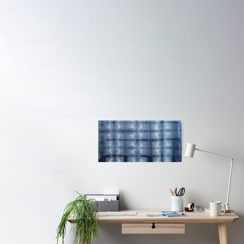 SKU546 Shibori Style - Blue Denim 2 Poster
