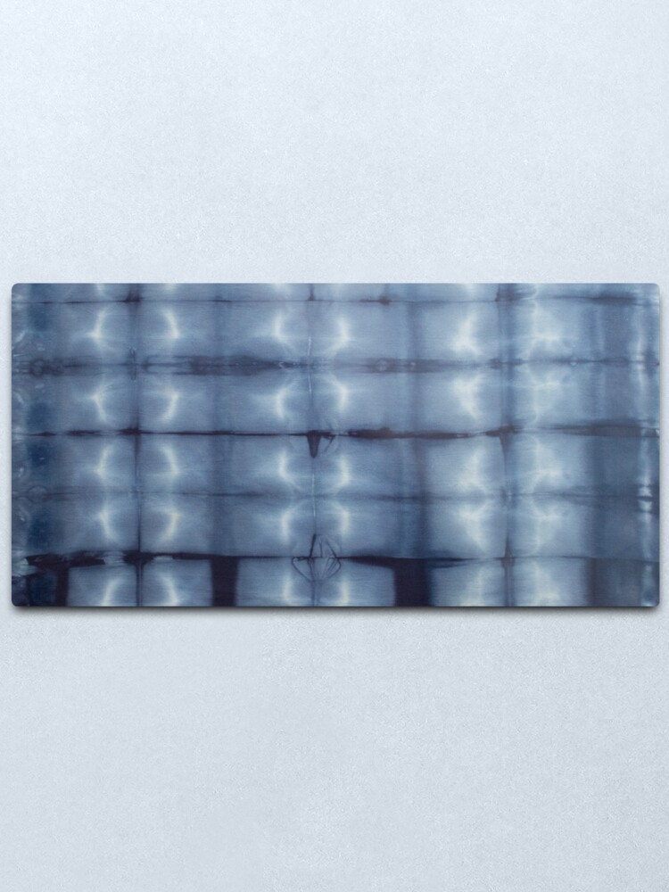 Alternate view of SKU546 Shibori Style - Blue Denim 2 Metal Print
