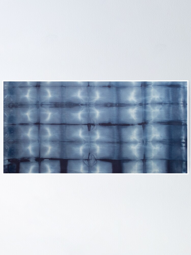 Alternate view of SKU546 Shibori Style - Blue Denim 2 Poster