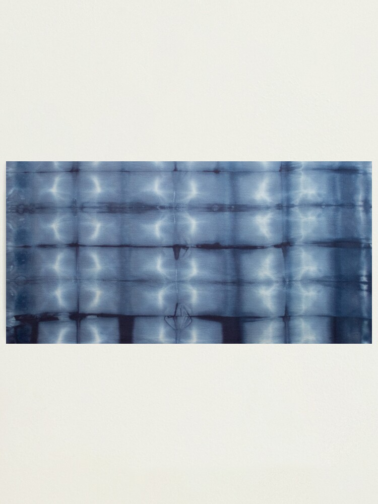 Alternate view of SKU546 Shibori Style - Blue Denim 2 Photographic Print
