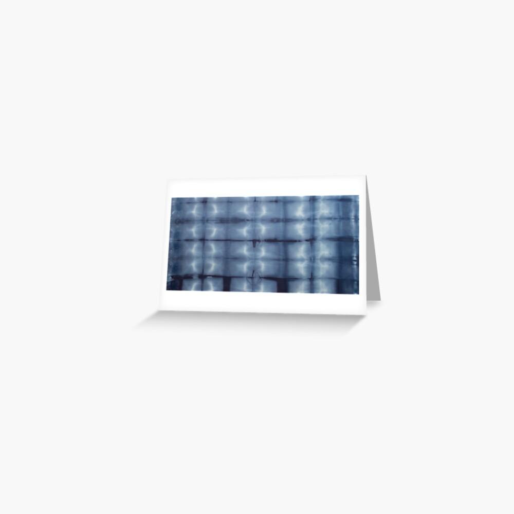 SKU546 Shibori Style - Blue Denim 2 Greeting Card