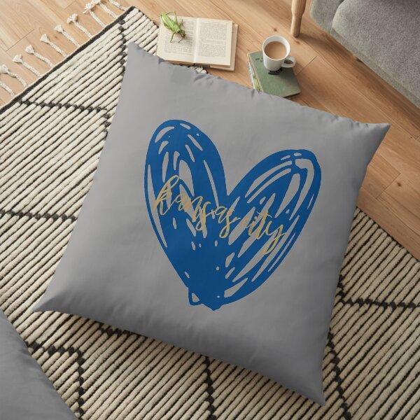 kansas city heart 2 Floor Pillow