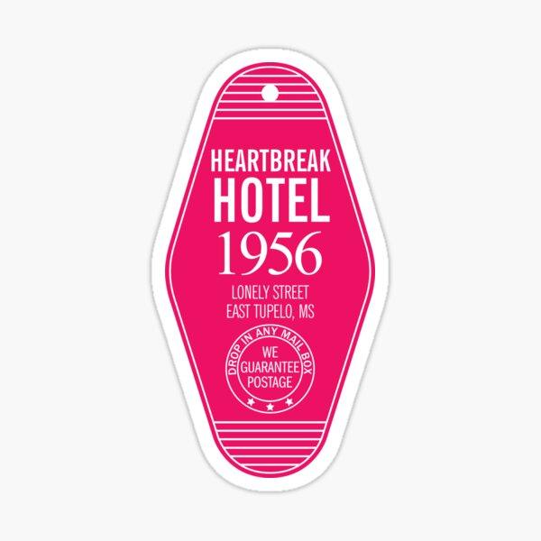Elvis Heartbreak Hotel Key Sticker
