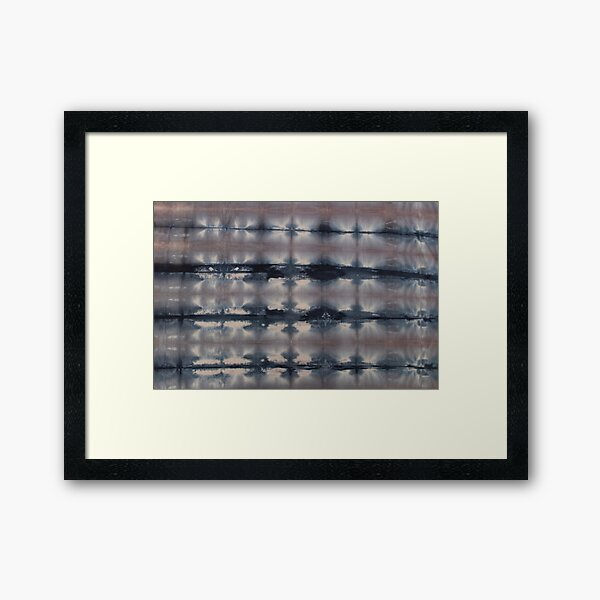SKU551 Shibori Style - Blue Pink 6 Framed Art Print