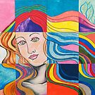 Modern Venus Botticelli Inspired Pop Art Mixed Media by Express Yourself Artshop