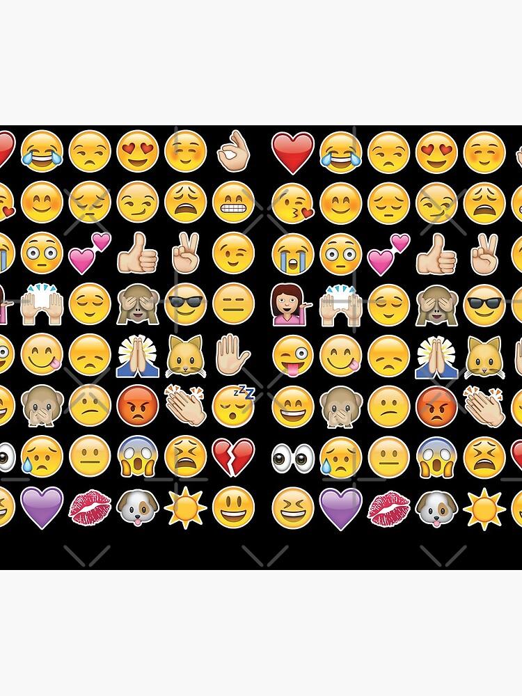 schwarzes Emoji von gossiprag