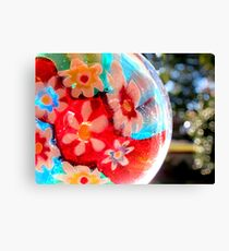 Kaleidoscope Colour Wheel Canvas Print
