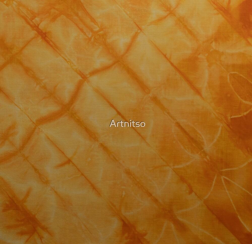 SK589 Shibori Style - Orange Yellow 4 by Artnitso