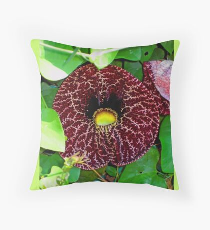 Florida Flowers in Magenta  Throw Pillow