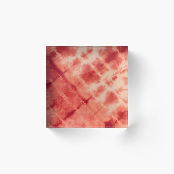 SKU594 Shibori Style - Red 1 Acrylic Block
