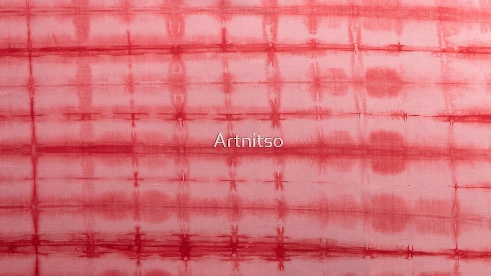 SKU593 Shibori Style - Red 3 by Artnitso