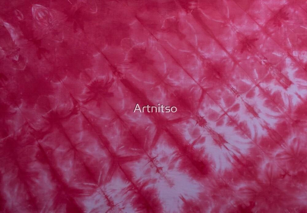 SKU599 Shibori Style - Red 8 by Artnitso