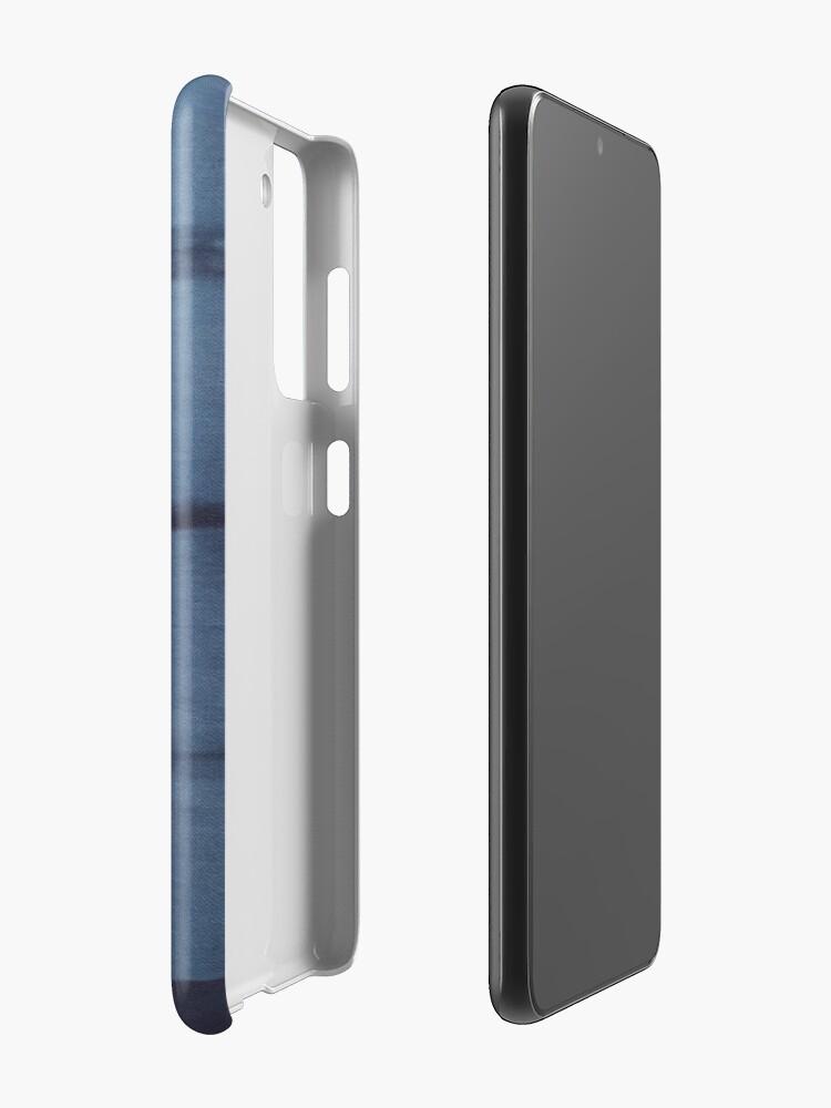 Alternate view of SKU546 Shibori Style - Blue Denim 2 Case & Skin for Samsung Galaxy