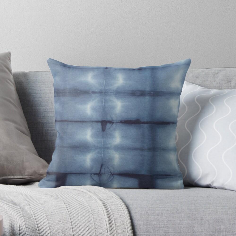SKU546 Shibori Style - Blue Denim 2 Throw Pillow