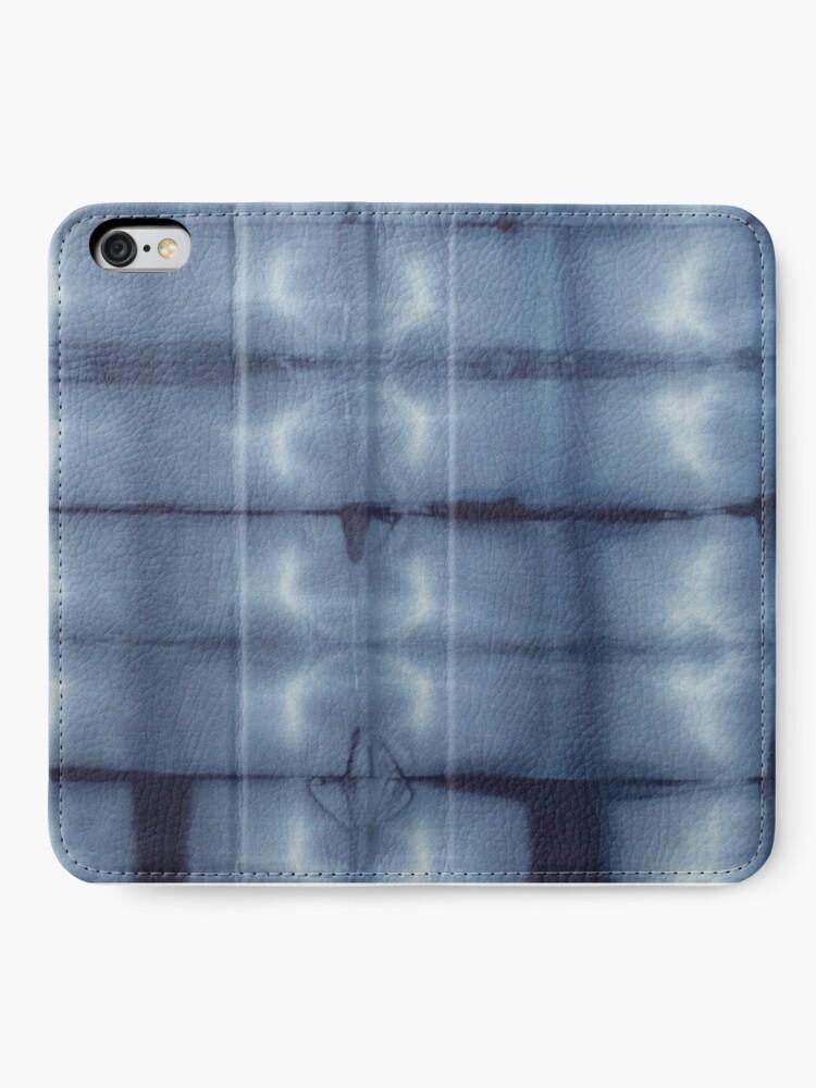 Alternate view of SKU546 Shibori Style - Blue Denim 2 iPhone Wallet