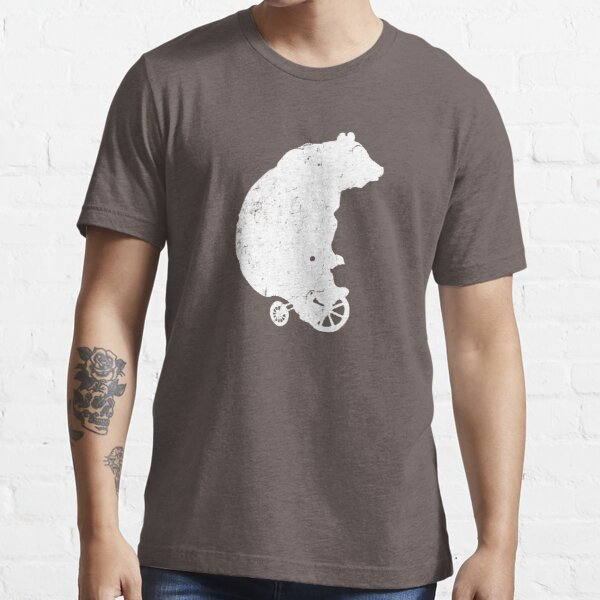 Bear on Tricycle (White) Essential T-Shirt