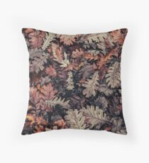 Dried Autumn Leaves - HD Nature Throw Pillow