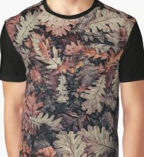 Dried Autumn Leaves - HD Nature Graphic T-Shirt
