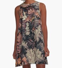 Dried Autumn Leaves - HD Nature A-Line Dress