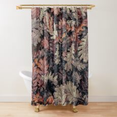 Dried Autumn Leaves - HD Nature Shower Curtain