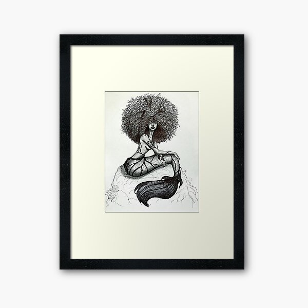 Goddess of the Sea Framed Art Print
