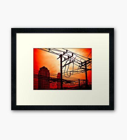 Street sky Framed Print
