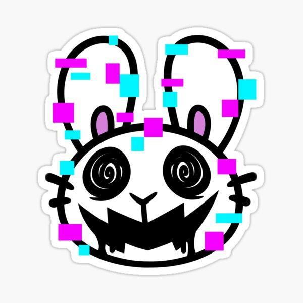Glitchy Bun Sticker