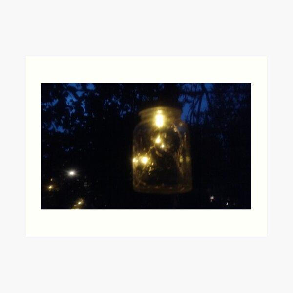 Night Rain Lights Art Print