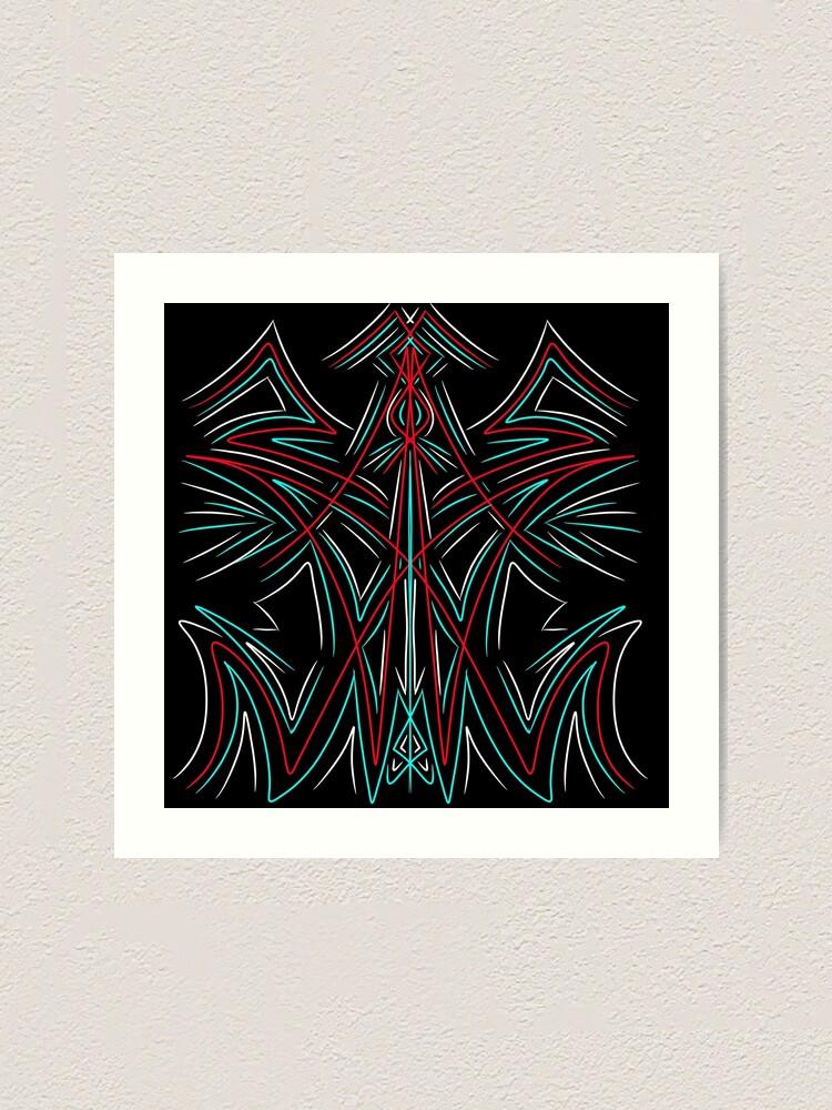 Hot Rod Pinstriping Art Print By Villethegoblin Redbubble