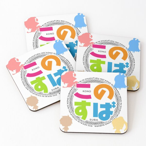 Konosuba Chibis - Square Coasters (Set of 4)