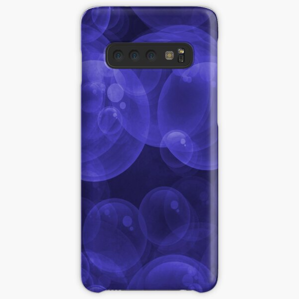 Large Royal Blue Purple Purple Water Air Bubbles Samsung Galaxy Snap Case