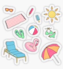 Pool Party Stickers Transparent Sticker