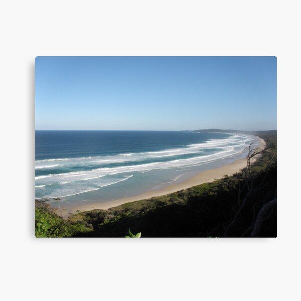 A crowded beach at Byron bay NSW. Canvas Print