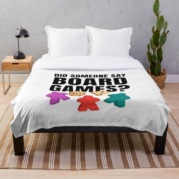 Did Someone Say Board Games?  Throw Blanket