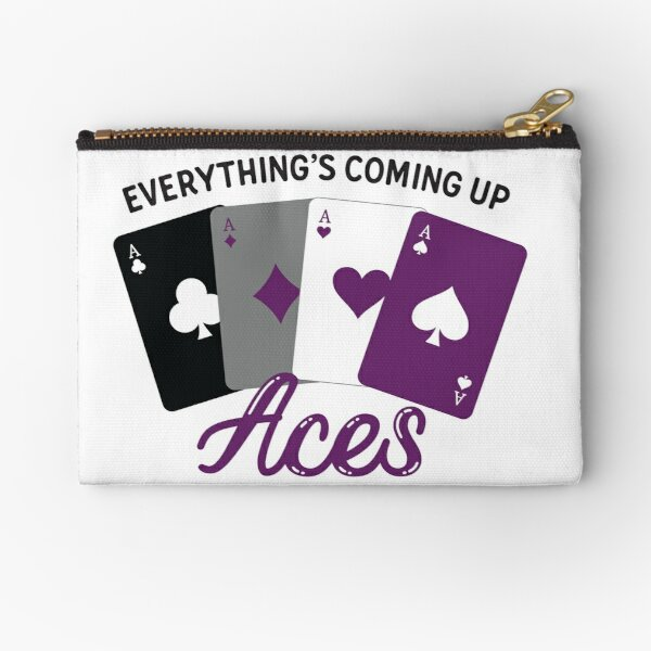 Everything's Coming Up Aces Zipper Pouch